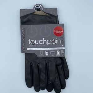 FOWNES TouchPoint Black Leather Gloves